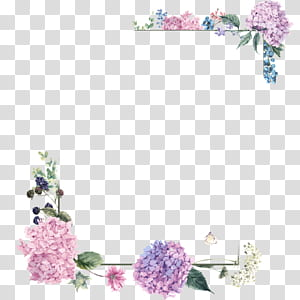 Pink purple and green flowers clipart border banner black and white Wedding invitation frame Flower Purple , Purple Border Frame ... banner black and white