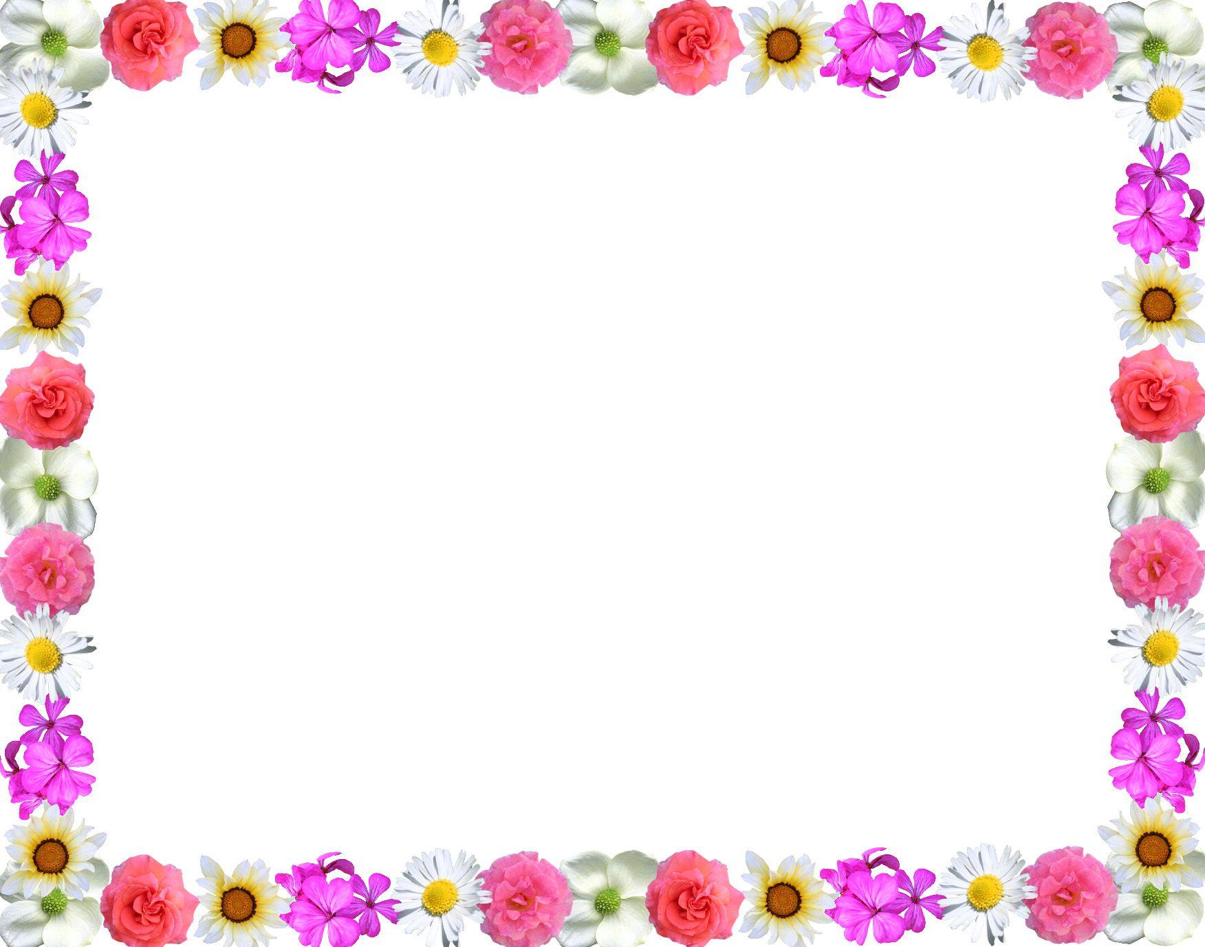 Pink purple and green flowers clipart border jpg free stock Stylish flowers Red purple Green Border Design HD 2016 ... jpg free stock