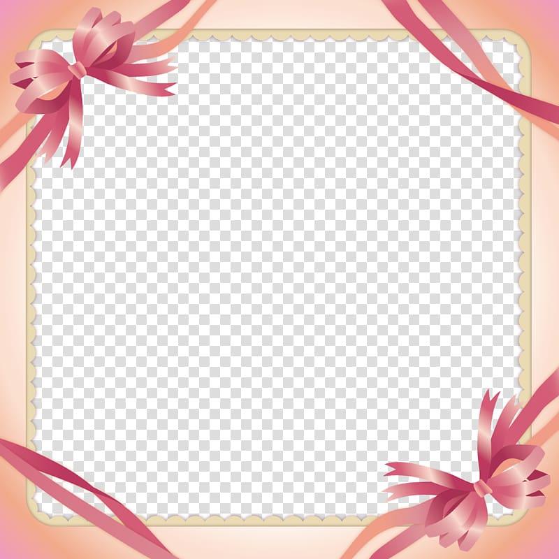 Pink ribbon clipart border svg royalty free Pink ribbon , Pink Ribbon Border transparent background PNG ... svg royalty free