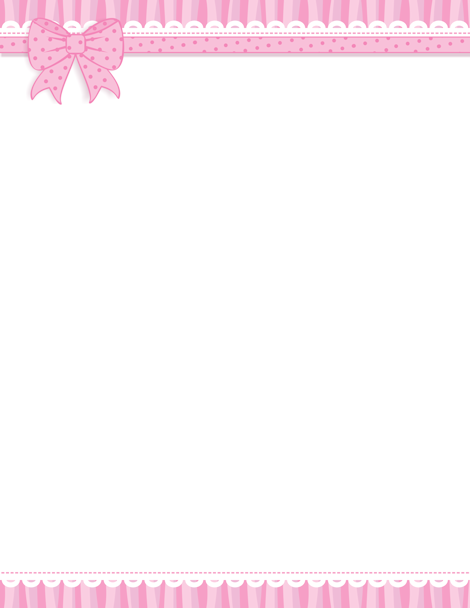 Pink ribbon clipart border jpg library download Pin by Muse Printables on Page Borders and Border Clip Art ... jpg library download