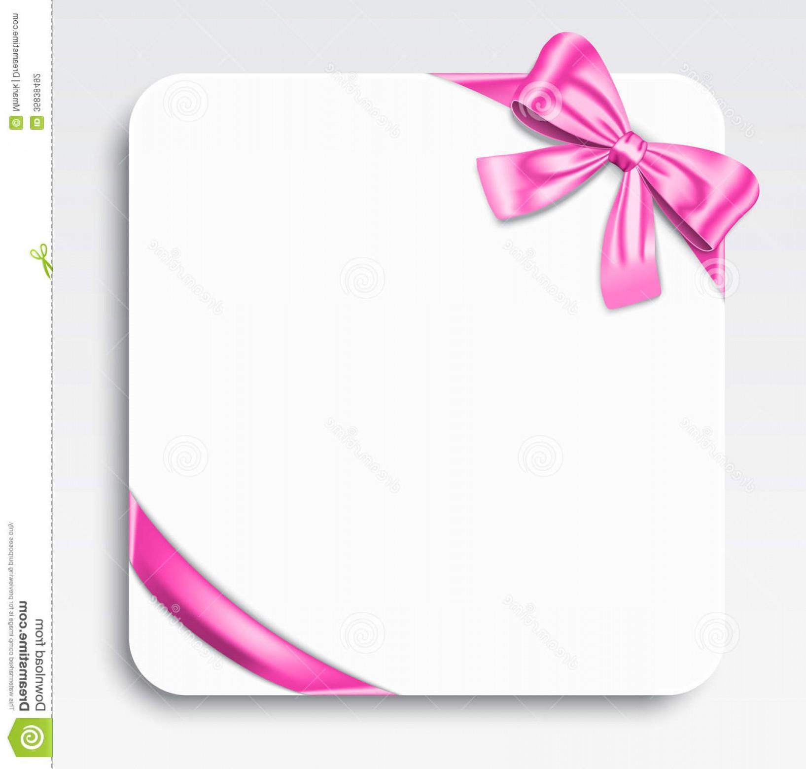 Pink ribbon vector clipart svg free download Stock Photography Gift Card Nice Pink Ribbon Bow Vector ... svg free download