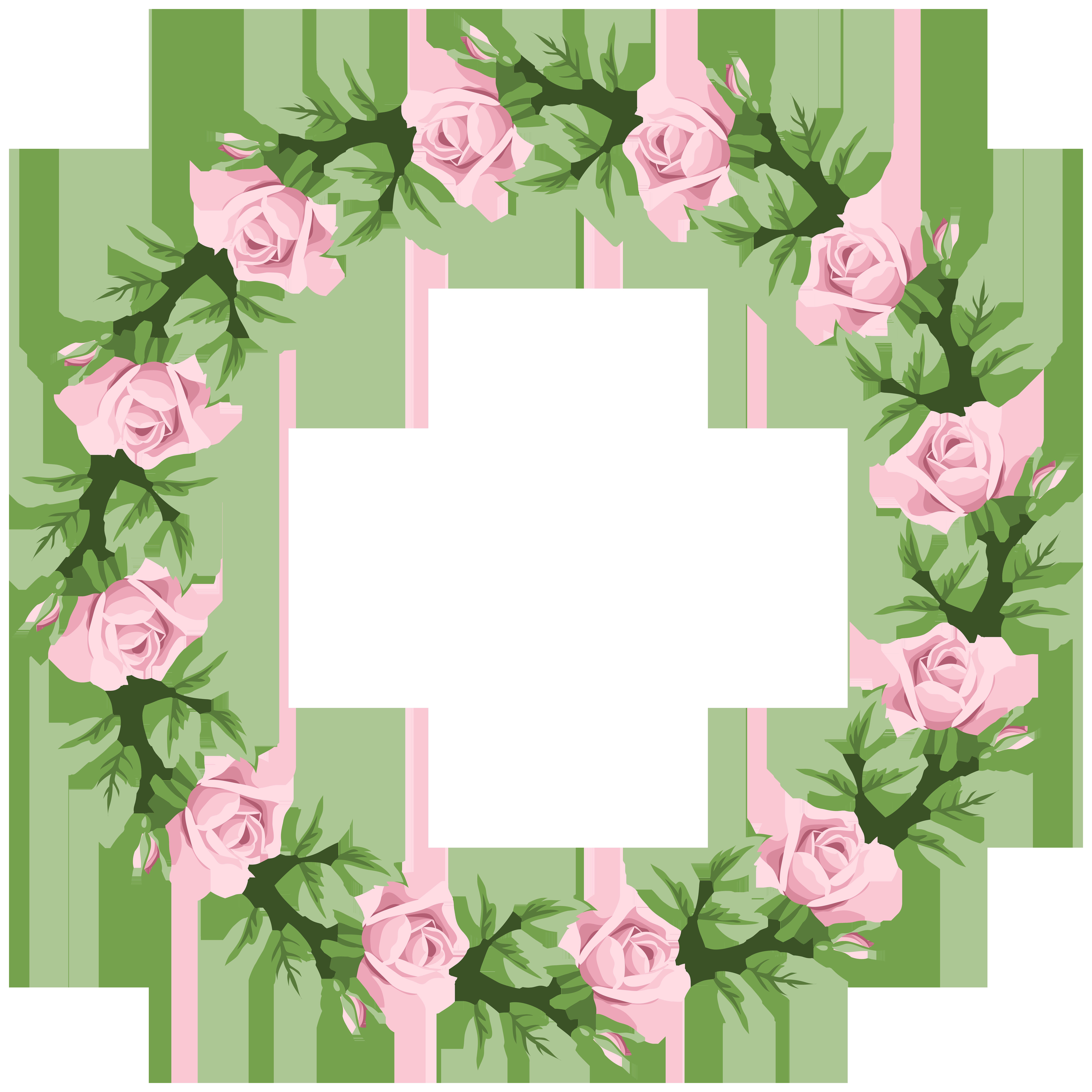Pink rose border clipart svg stock Pink Rose Border Frame Transparent PNG Clip Art | Gallery ... svg stock