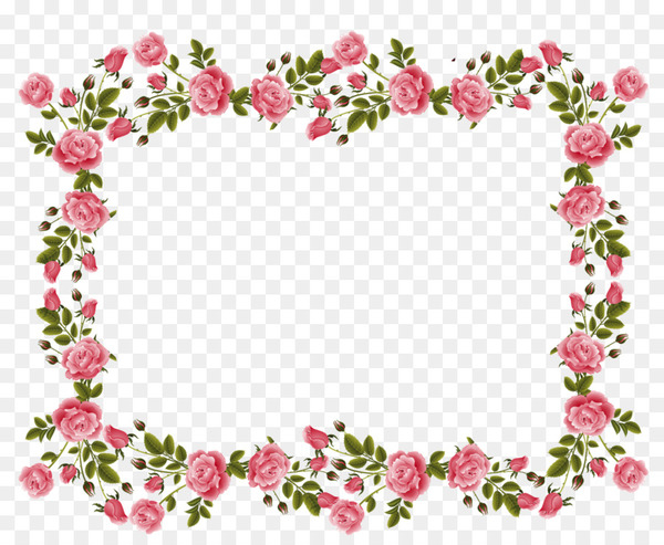 Pink rose border clipart clip royalty free Rose Picture Frames Pink flowers Clip art - flower border ... clip royalty free