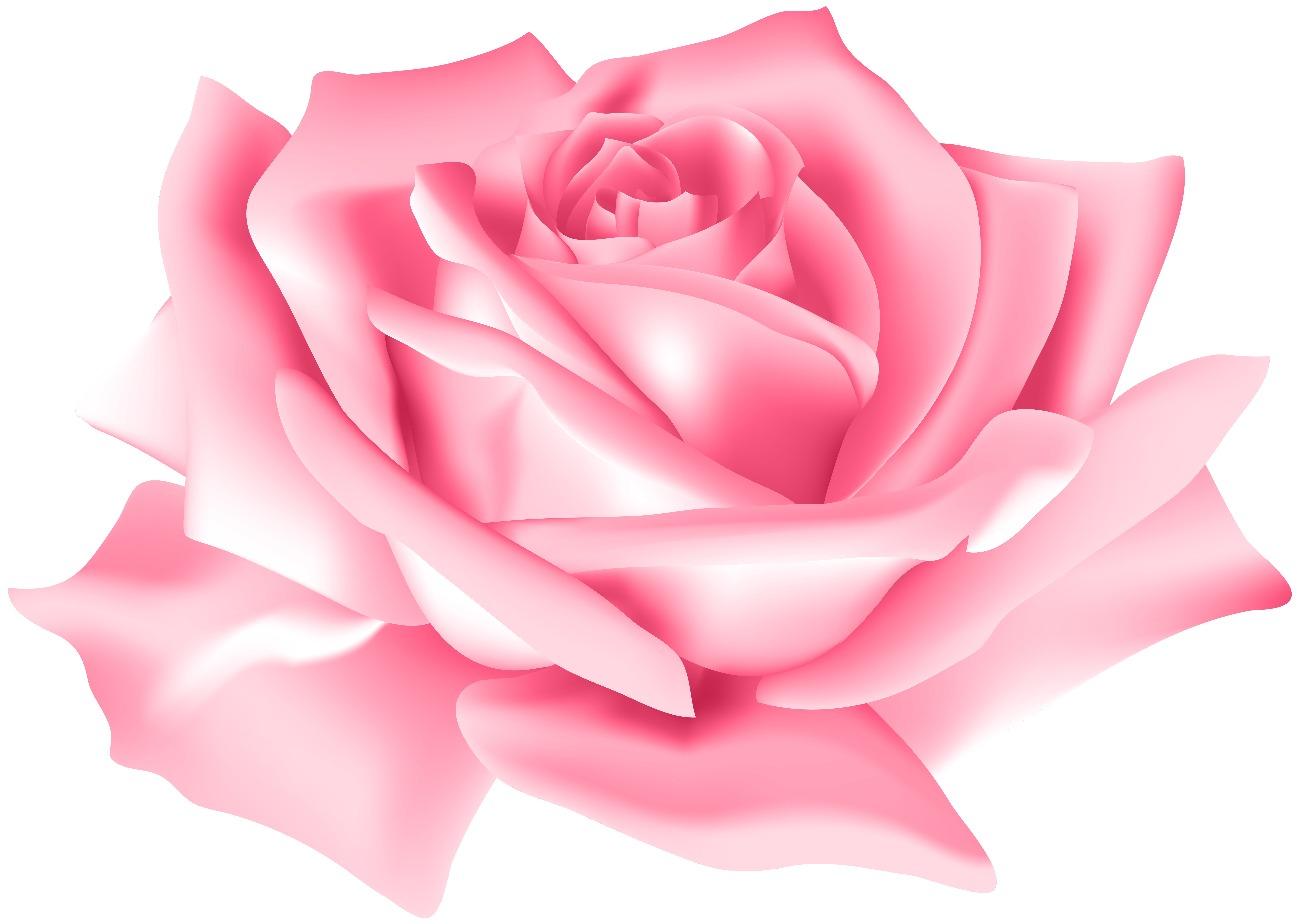 Pink rose flower clipart vector free library Pink Rose Flower PNG Clip Art Image | Gallery Yopriceville ... vector free library