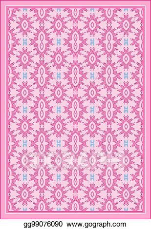 Pink rug clipart vector royalty free library Vector Clipart - Carpet, bed sheet, rug, seamless design ... vector royalty free library