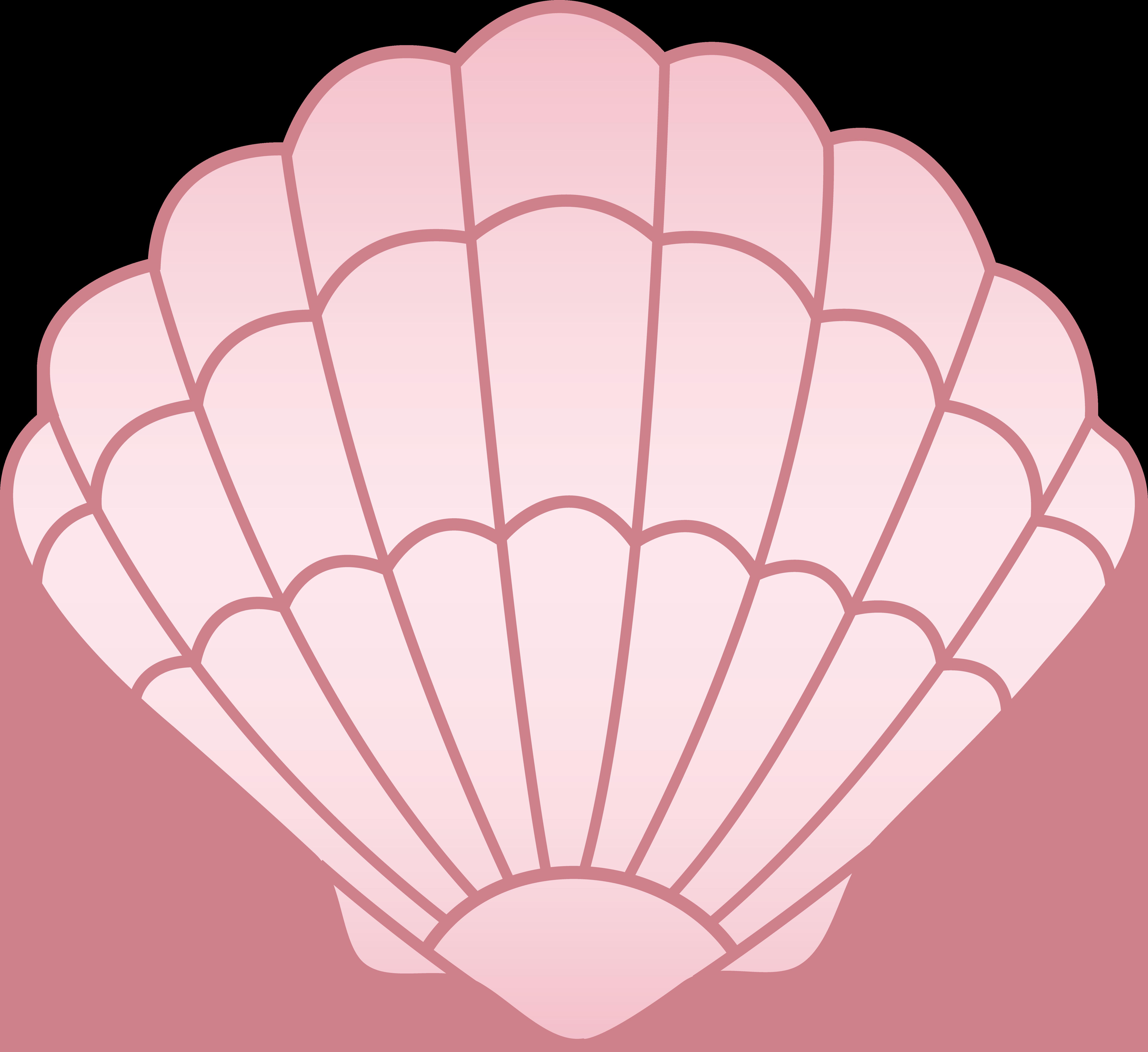 Pink seashell cliparts vector library stock Pink Seashell - Free Clip Art vector library stock