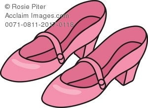 Pink shoes clipart picture transparent stock Royalty Free Clipart Illustration of Pink Shoes picture transparent stock