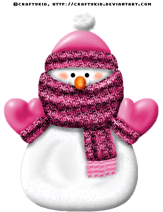 Pink snowman clipart vector black and white library PINK SNOWMAN ~ by ~Craftykid on deviantART | Snowmen ... vector black and white library
