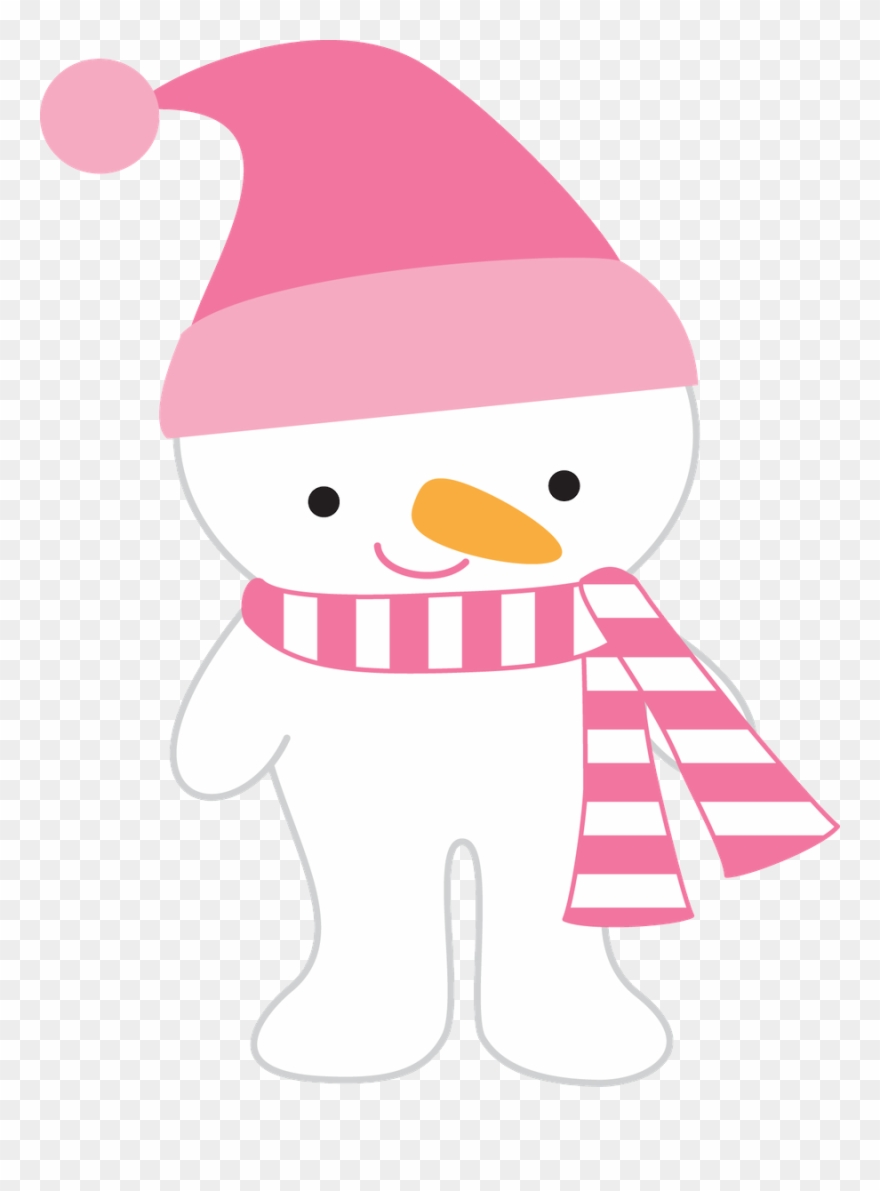 Pink snowman clipart clipart transparent Winter Clipart, Cute Snowman, Snowmen, Pink Hat, - Png ... clipart transparent