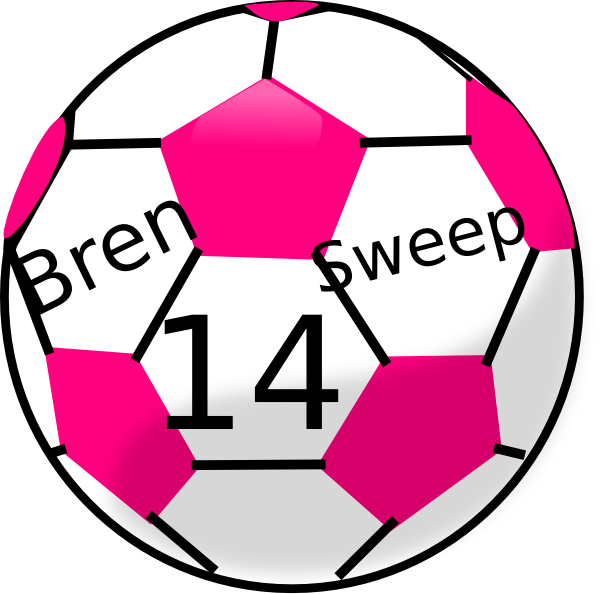 Neon pink star swoosh free clipart svg black and white library Pink Soccer Ball Clipart | Clipart Panda - Free Clipart Images svg black and white library