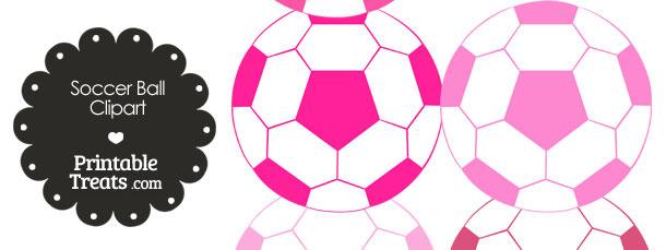 Pink soccer ball clipart image transparent stock Soccer Ball Clipart in Shades of Pink — Printable Treats.com image transparent stock