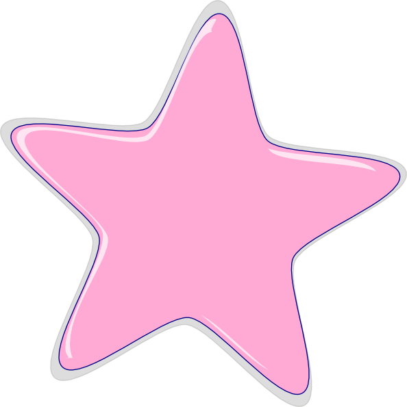 Pink star clipart vector black and white Pink Star Clip Art at Clker.com - vector clip art online, royalty ... vector black and white