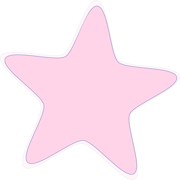 Pink star clipart picture black and white library Baby Pink Star Clip Art at Clker.com - vector clip art online ... picture black and white library