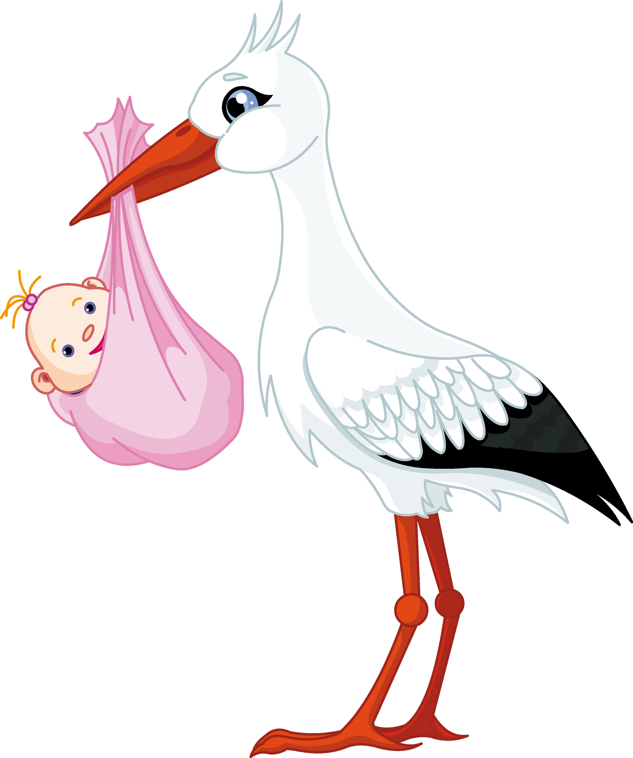 Pink stork with brown baby clipart banner black and white Pin by Carol Raj on cliparts | Baby stork, Baby shawer, Baby ... banner black and white
