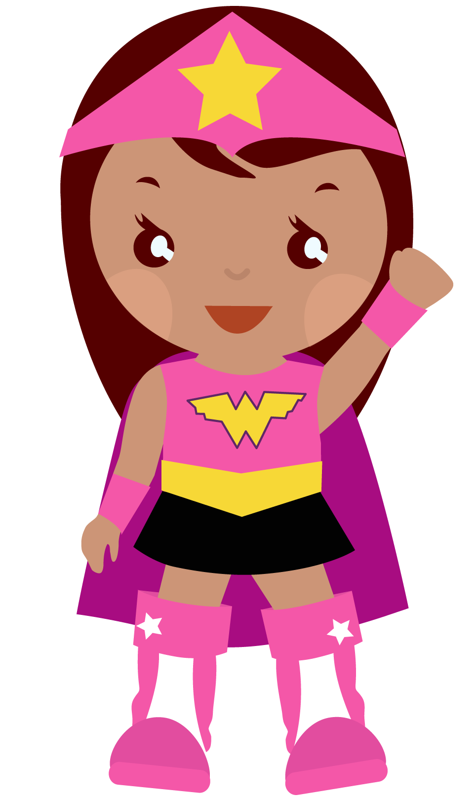 Pink super girl clipart picture freeuse library Pink super girl clipart - ClipartFest picture freeuse library