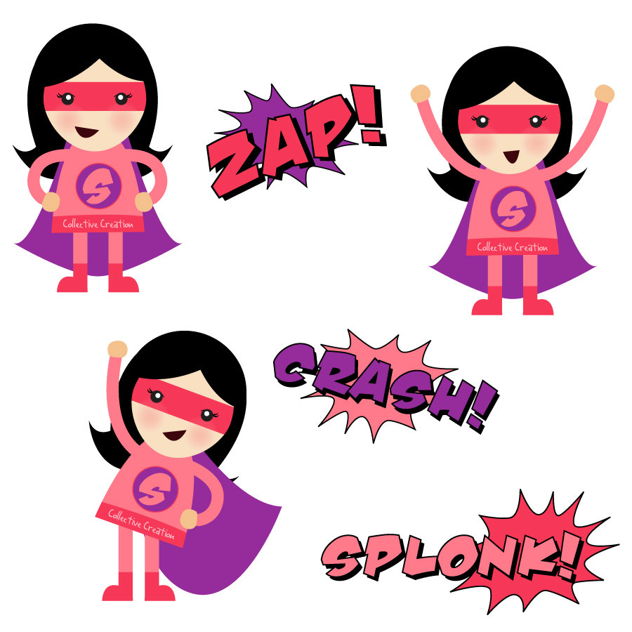 Pink super girl clipart jpg library download Pink superhero clipart - ClipartFest jpg library download