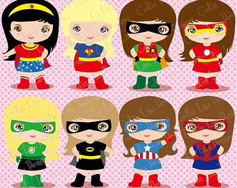 Pink super girl clipart clip freeuse Supergirl clipart | Etsy clip freeuse