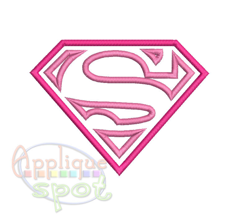 Pink super girl clipart clip art black and white library Supergirl clipart logo - ClipartFest clip art black and white library