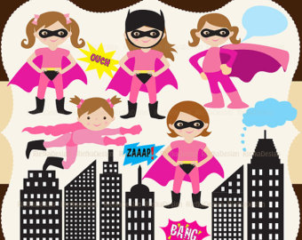 Pink super girl clipart banner transparent download Pink super girl clipart - ClipartFox banner transparent download