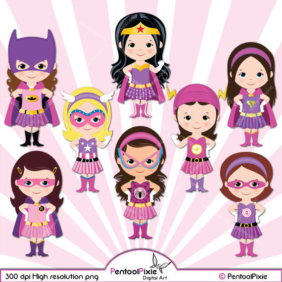 Pink super girl clipart clip stock Supergirl clipart | Etsy clip stock