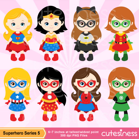 Pink super girl clipart clip black and white library Supergirl clipart | Etsy clip black and white library