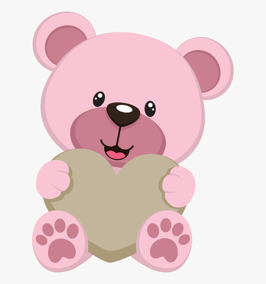 Pink teddy clipart graphic free download Jbqkkprltswfcj - Pink Teddy Bear Cartoon #129772 - Free ... graphic free download