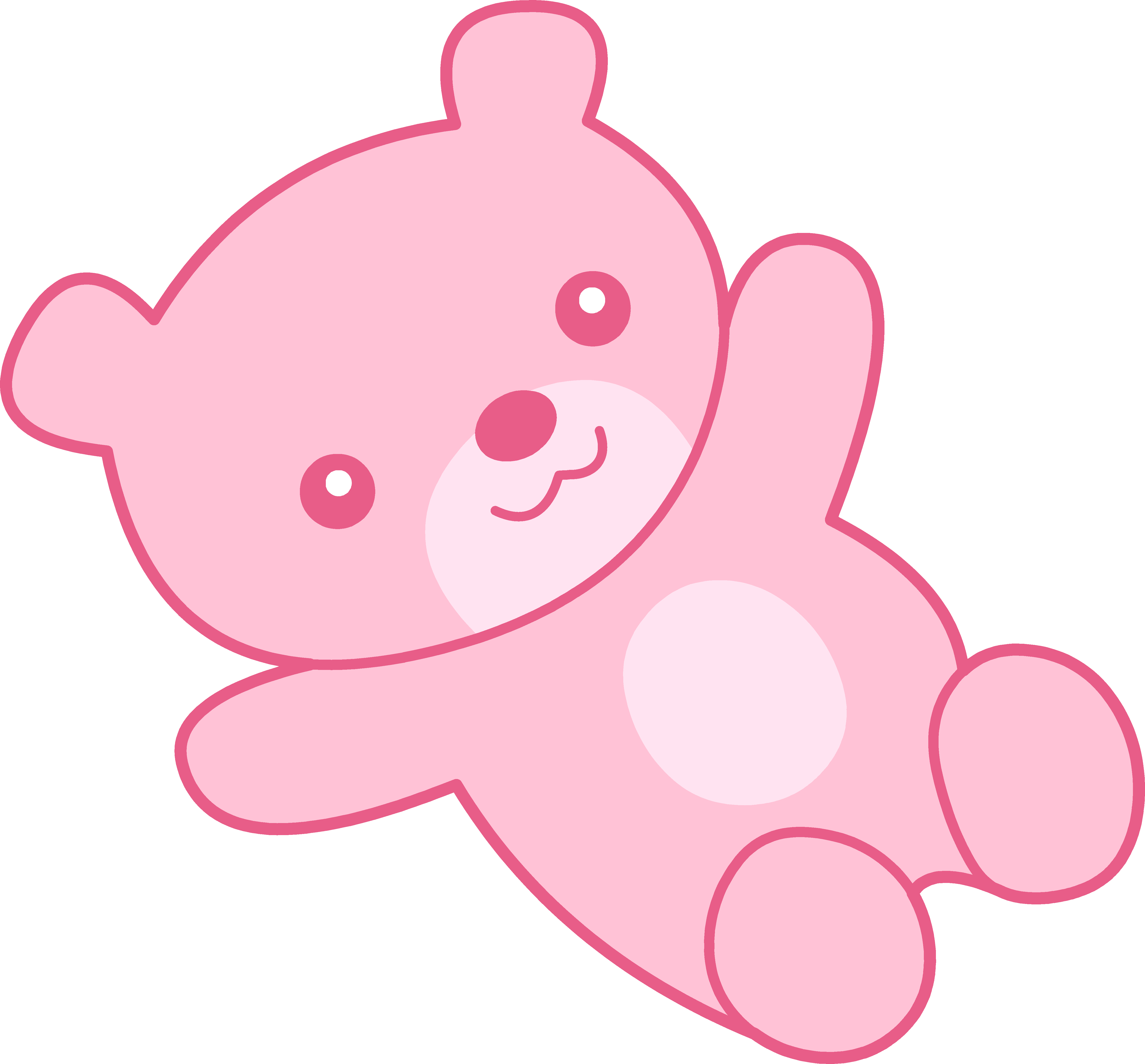 Pink teddy clipart image black and white library Cute Pink Teddy Bear Clipart - Free Clip Art image black and white library