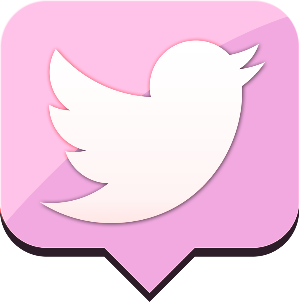 Pink twitter icon clipart picture library Pink Twitter Transparent Logo Png Images picture library