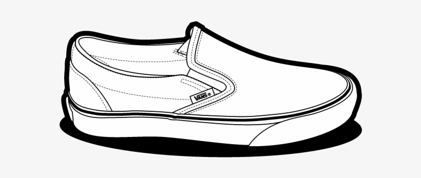 Pink vans clipart vector freeuse download Shoe Clipart Vans - Vans Slip On Drawing Transparent PNG ... vector freeuse download