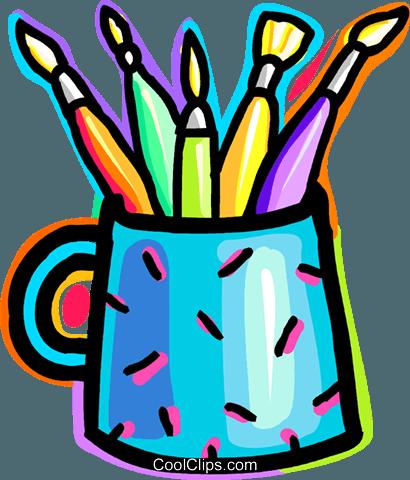 Pinsel und farbe clipart clip freeuse Farbe und Pinsel Vektor Clipart Bild -vc037552-CoolCLIPS.com clip freeuse