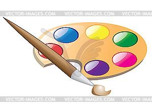 Pinsel und farbe clipart clipart transparent Farbpalette mit pinsel clipart - ClipartFest clipart transparent
