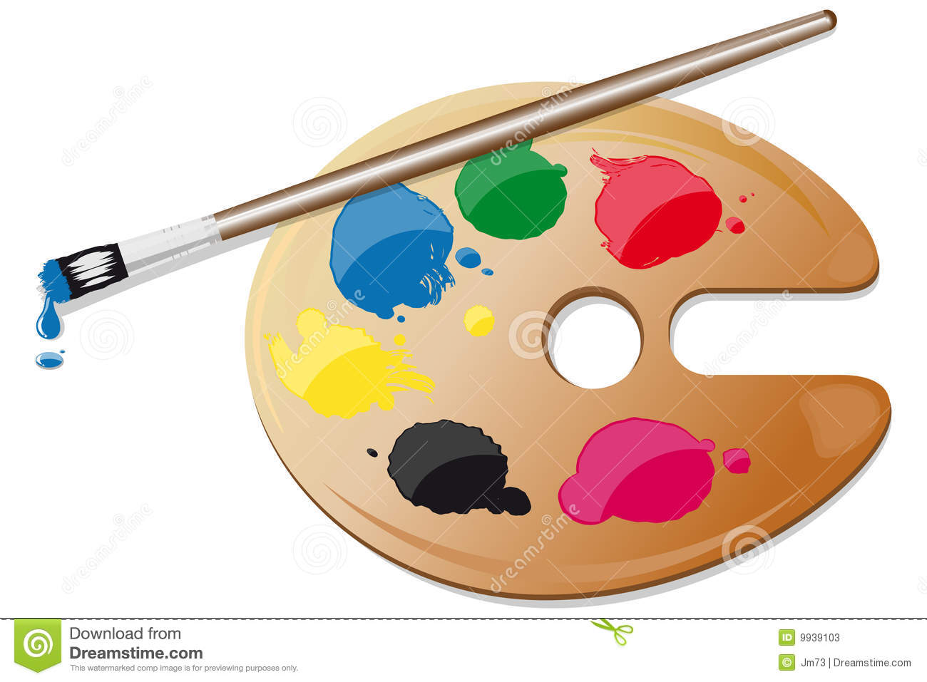 Pinsel und farbe clipart png freeuse Malerpalette Mit Farben Und Pinsel Stockfotos - Bild: 9939103 png freeuse