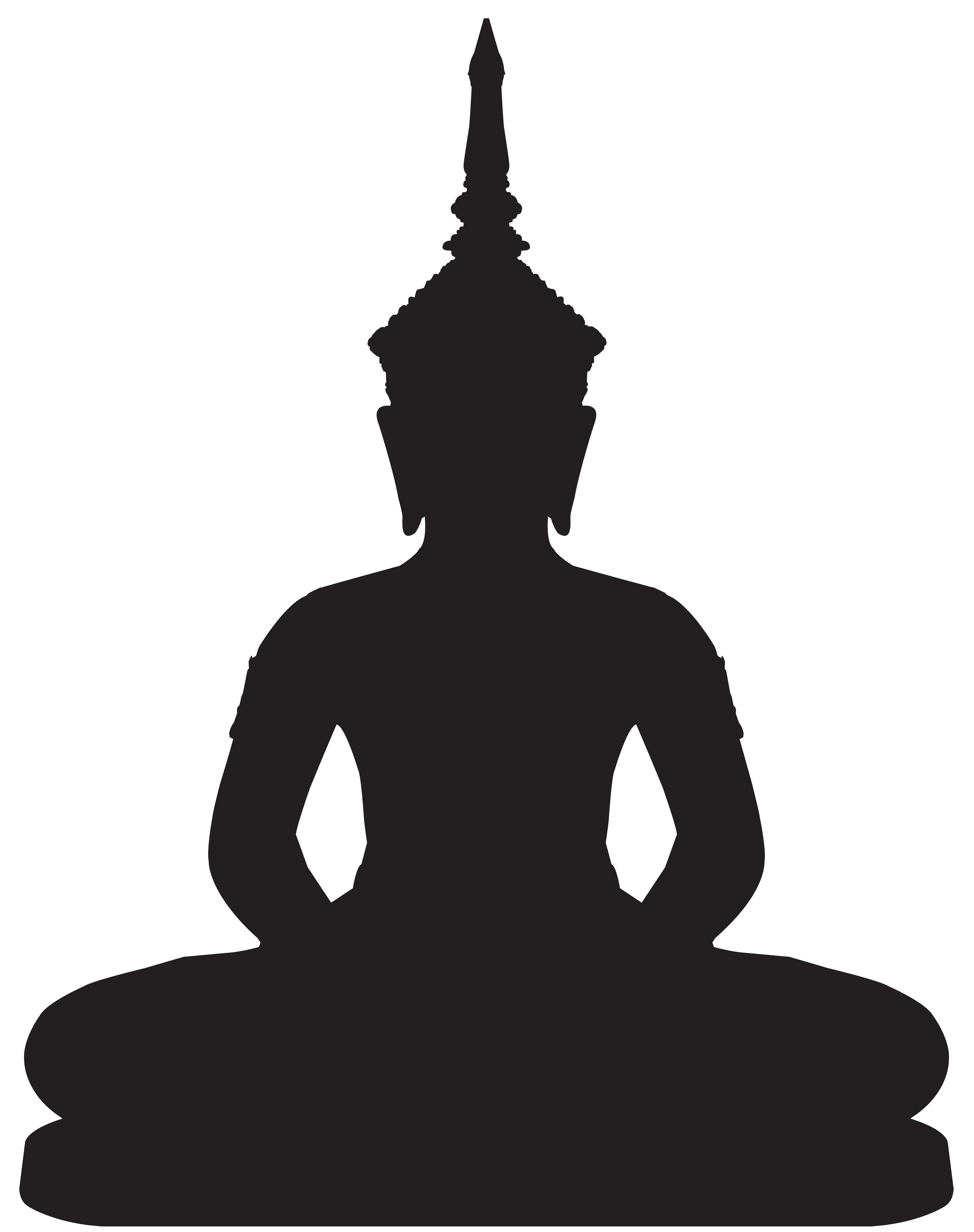 Pinterest clipart snowflake treble svg royalty free stock Buddha Statue Silhouette PNG Clip Art - Best WEB Clipart   Buddha ... svg royalty free stock