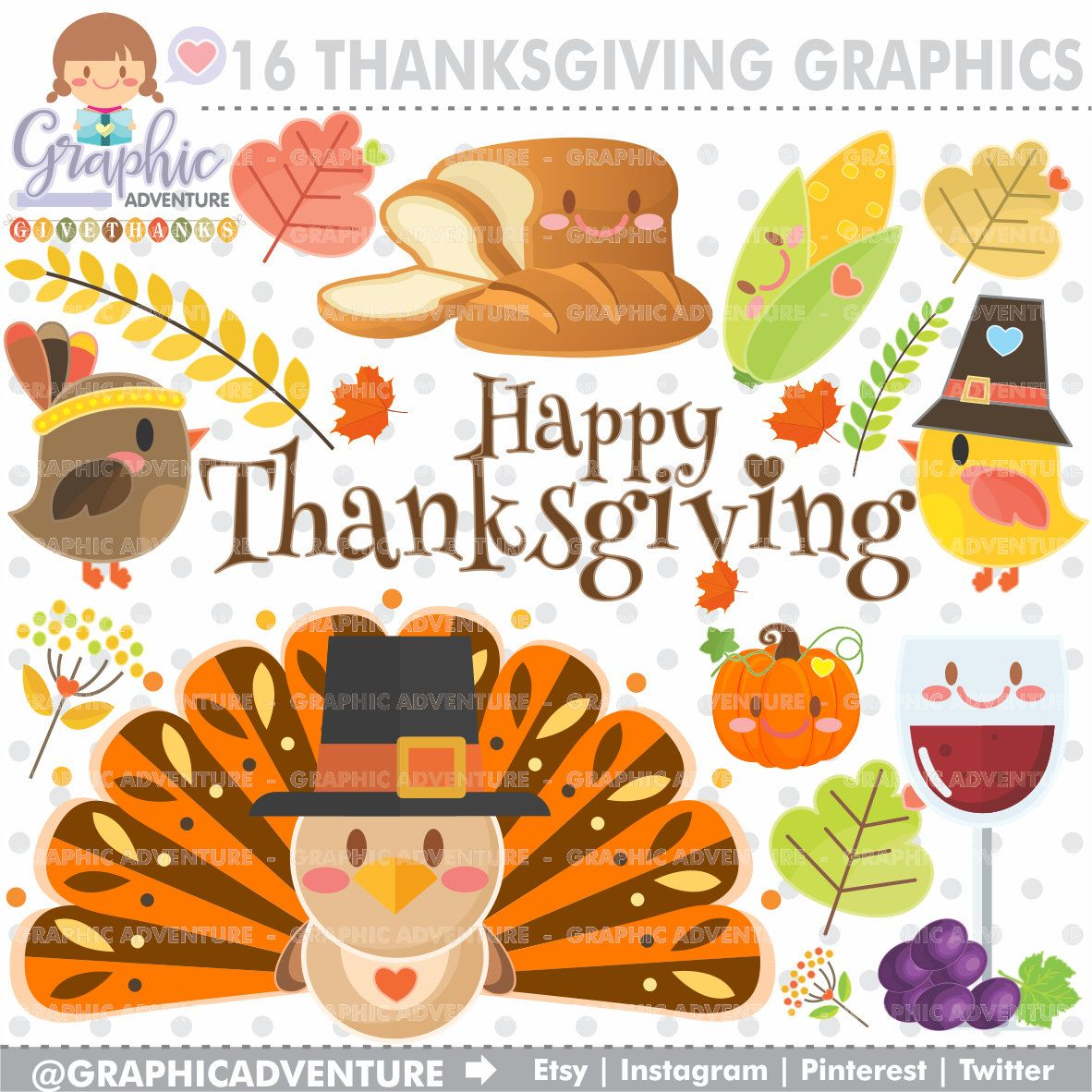 Pinterest thanksgiving clipart png royalty free download Thanksgiving Clipart, Thanksgiving Graphic, COMMERCIAL USE ... png royalty free download