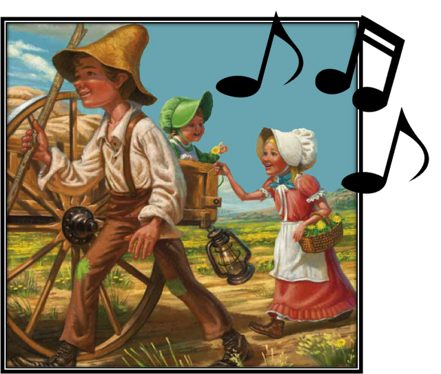 Pioneer house clipart vector library download SINGING TIME IDEA: Pioneers - Pioneer Children Sang as They Walked ... vector library download
