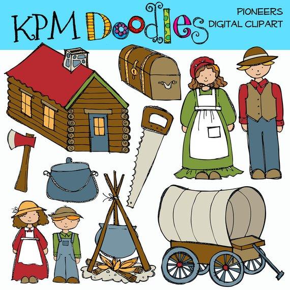 Pioneers clipart vector free KPM PIoneer Digital Clip Art | Products | Clip art, Art, How ... vector free