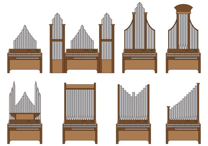 Pipe organ clipart free image black and white Set Of Pipe Organ Vector - Download Free Vector Art, Stock ... image black and white