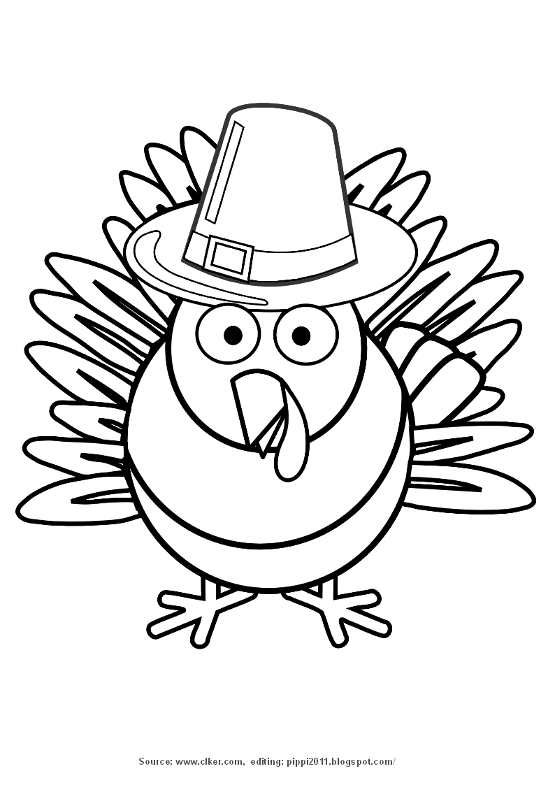 Pippi s clipart png library 53+ Thanksgiving Clipart Black And White | ClipartLook png library