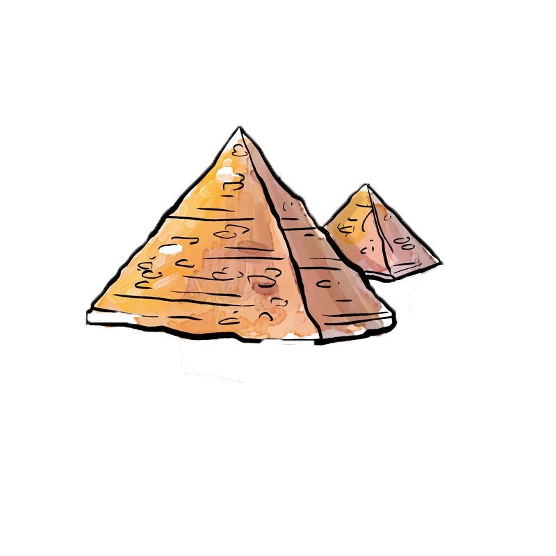 Piramides clipart royalty free library Egyptian pyramids De Piramides - Cartoon pyramid png ... royalty free library