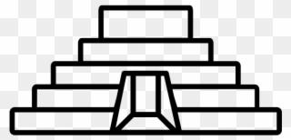 Piramides clipart picture black and white stock Pyramid Maya Rubber Stamp - Dibujos De Las Piramides Mayas ... picture black and white stock