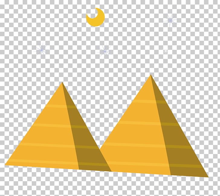 Piramides clipart vector freeuse download Pirámides egipcias, material de pirámide nocturna PNG ... vector freeuse download