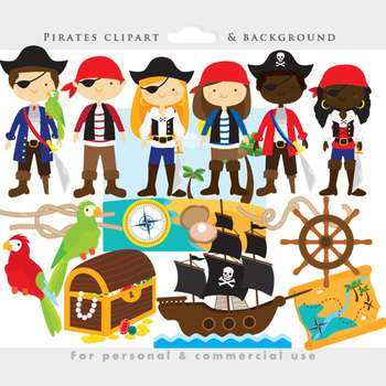 Pirat clipart clip art library download Pirate clipart - pirates clip art, eyepatch, booty, ship, treasure chest,  parrot clip art library download