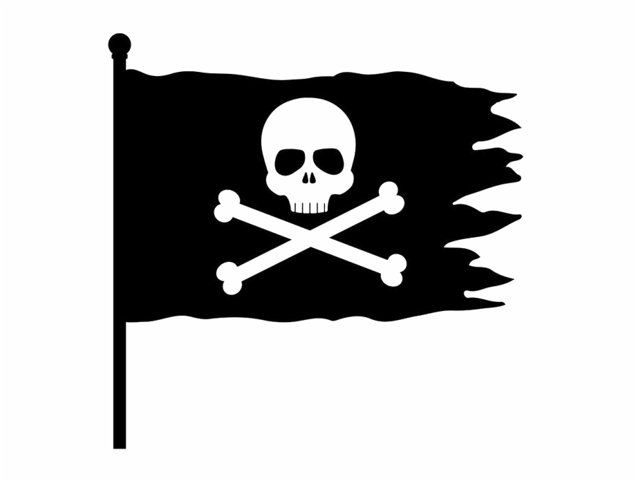 Pirate flag clipart black and white jpg free Pirate Flag Transparent Free Png - Pirate Flag Clipart Free ... jpg free