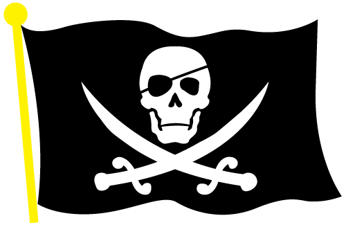 Pirate flag clipart black and white clip art black and white Pirate Clip Art Black Skull And Crossed Bones - ClipArt Best ... clip art black and white