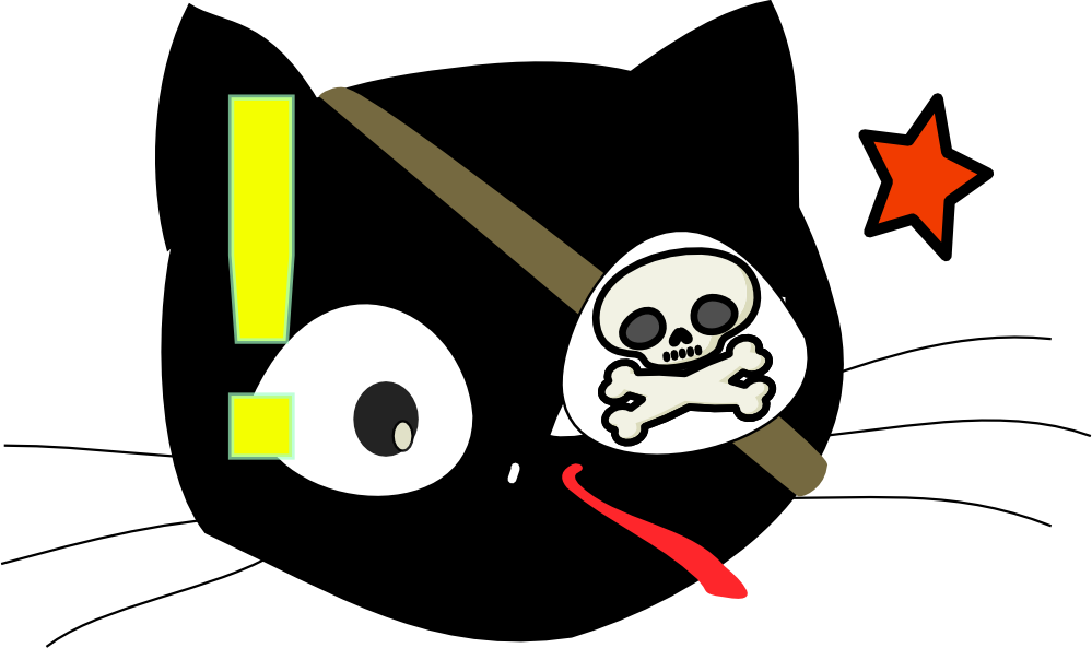 Pirate cat clipart vector library library clipartist.net » Clip Art » antontw pirate cat SVG vector library library