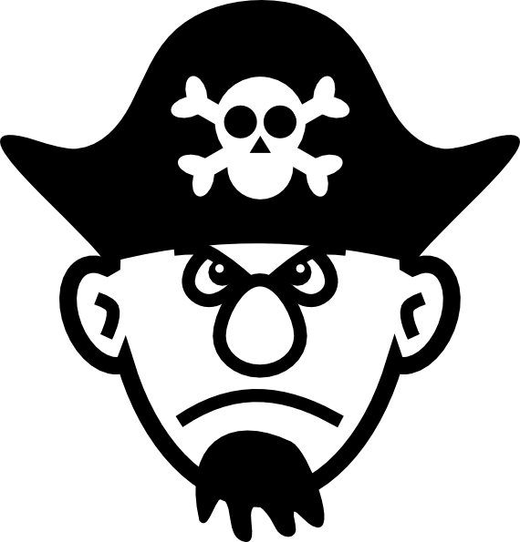 Pirate cat clipart picture black and white stock Angry Young Pirate Clip Art at Clker.com - vector clip art online ... picture black and white stock
