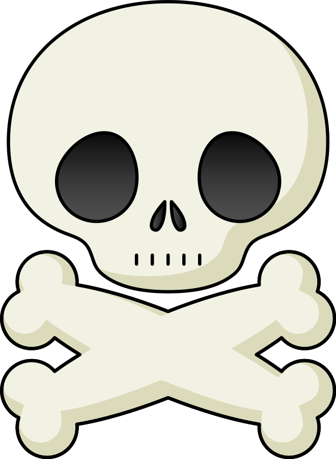 Pirate cat head fishbone body clipart vector library library Human Bone Clipart at GetDrawings.com   Free for personal use Human ... vector library library