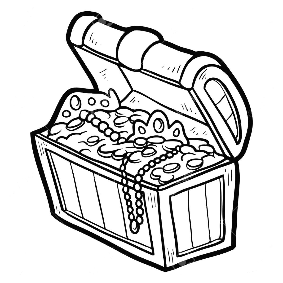 Pirate clipart black and white treasure map graphic transparent Treasure Chest Black And White | Free download best Treasure ... graphic transparent