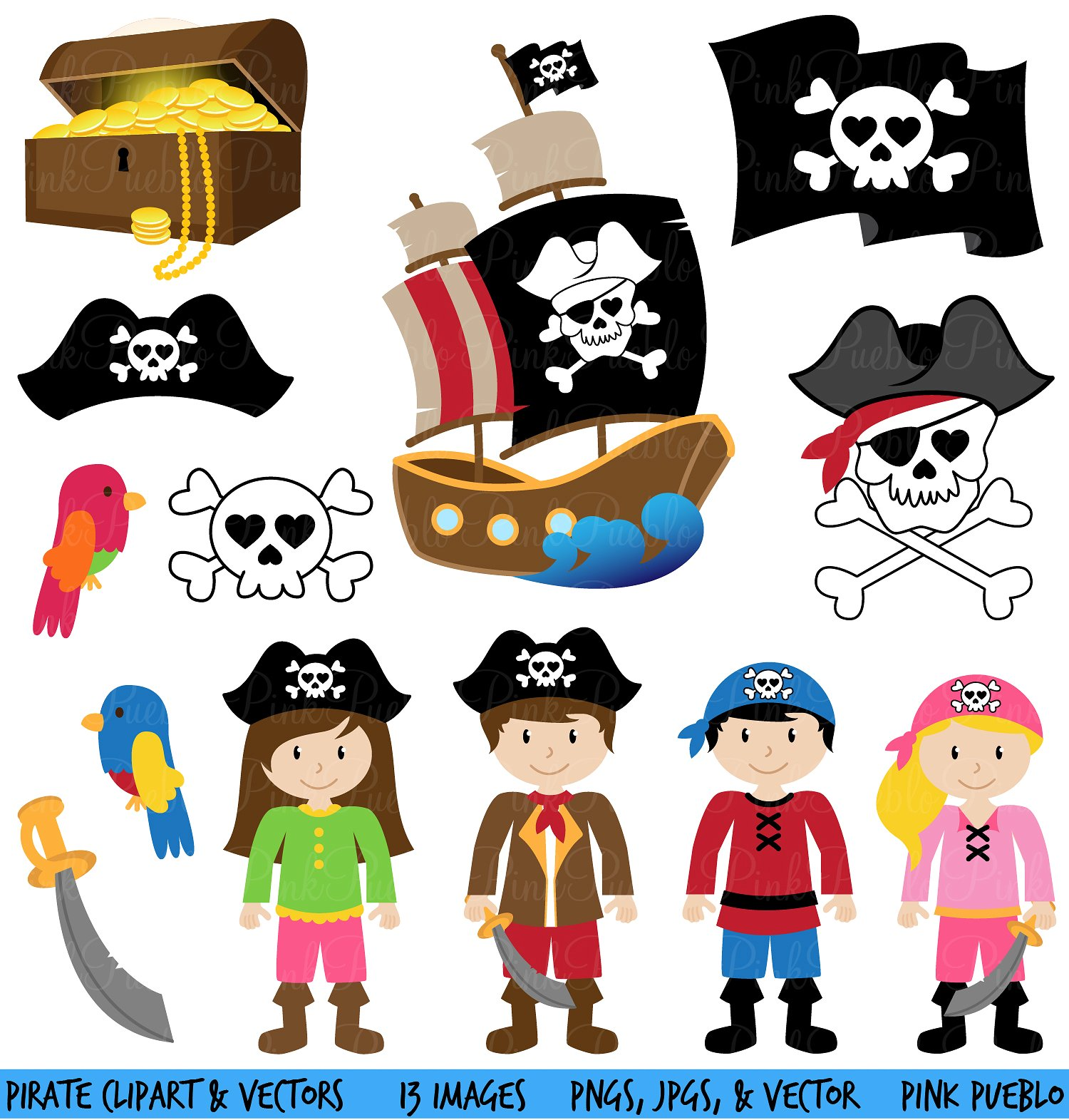 Pirate clipart for kids free vector royalty free Pirate clipart - 113 transparent clip arts, images and ... vector royalty free