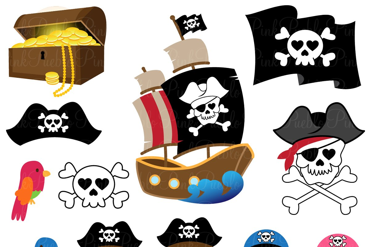 Pirate clipart pictures graphic black and white Pirate Clipart and Vectors graphic black and white
